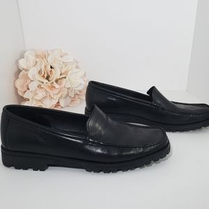 Cole Haan Black Leather Comfort Loafer 7.5B